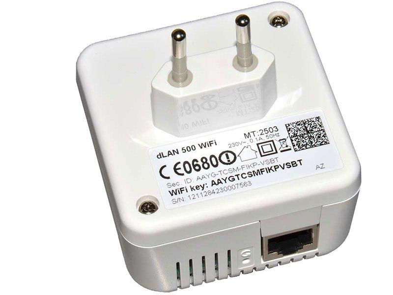 Powerline adapter Devolo dLAN® 500 Wi-Fi (back view)
